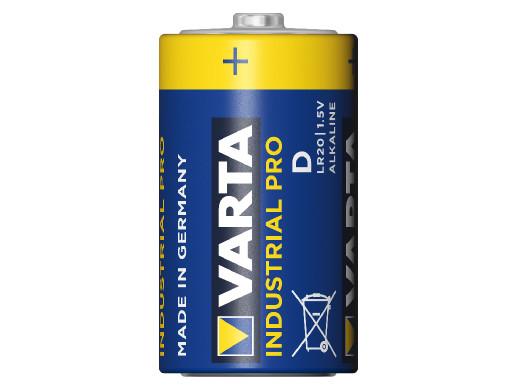 20x baterie alkaliczne Varta Industrial R20/D