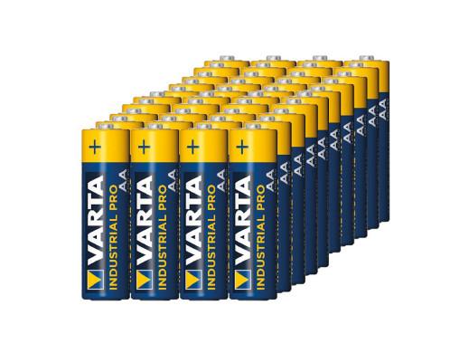 40x Bateria R-06 LR6 AA alkaliczne Varta Industrial  (folia4)