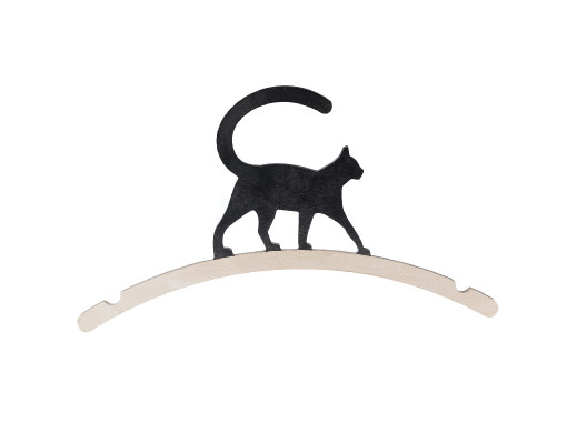 Wieszak drewniany ozdobny na ubrania Kot