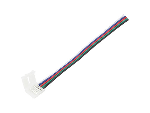 Konektor do taśm LED 10mm RGBW z przew. 5pin