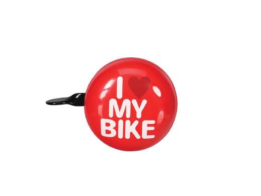 Dzwonek rowerowy śr. 8cm czerwony