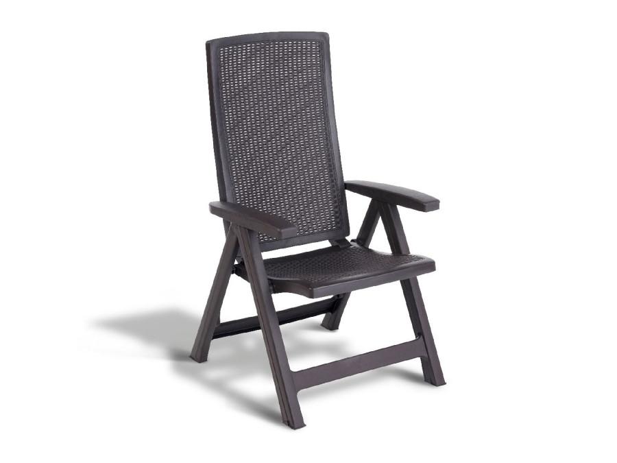 Komplet 2 Krzeseł Ogrodowych Keter Allibert Montreal Brązowe
