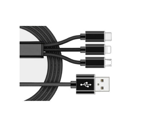 Przewód 3in1 USB DSKU701 1,2m uniwersalny Talvico