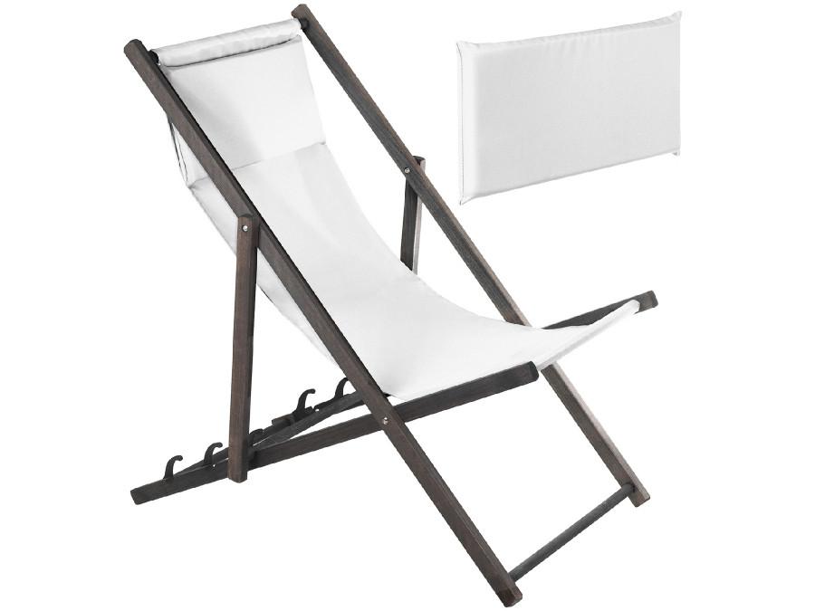 Leżak z poduszką GreenBlue Premium GB184 biały