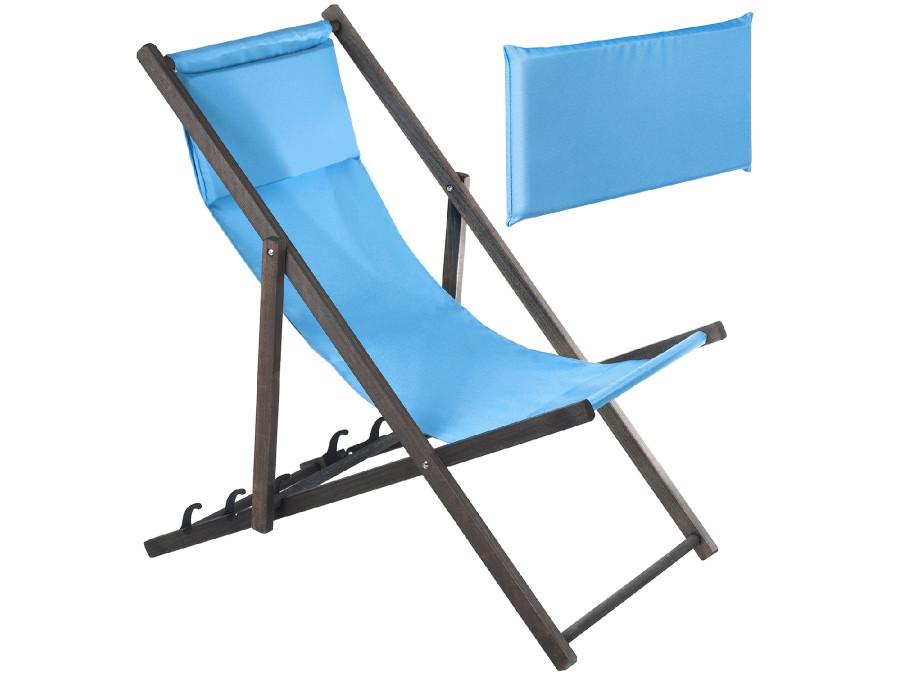 Leżak z poduszką GreenBlue Premium GB184 niebieski