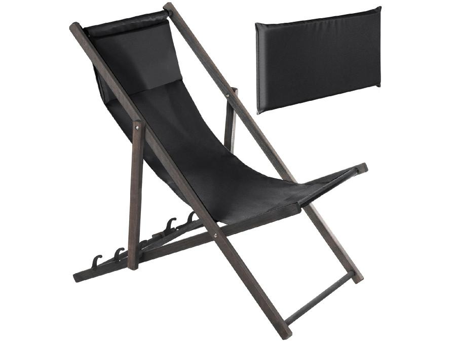 Leżak z poduszką GreenBlue Premium GB184 czarny