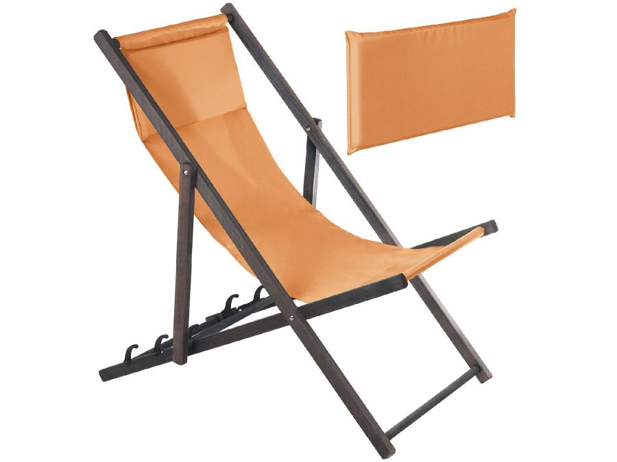 Leżak z poduszką GreenBlue Premium GB184 pomarańczowy