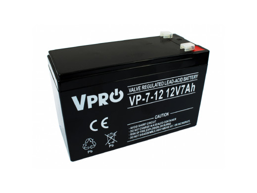 Akumulator AGM VPRO 12V 7Ah