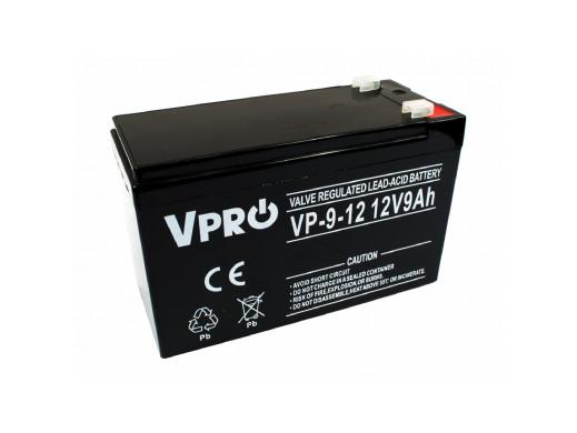 Akumulator AGM VPRO 12V 9Ah