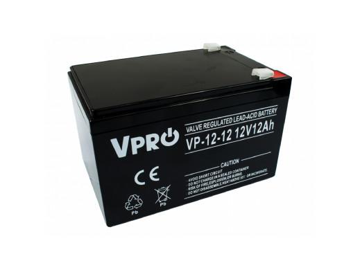 Akumulator AGM VPRO 12V 12Ah