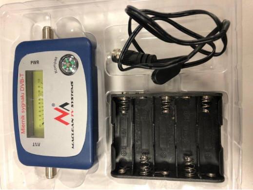 Miernik telewizyjny DVB-T Maclean  MCTV-627 kabel 25cm F-F, etui, zestaw zasilający POSERWISOWY Brak etui, ślady użytkowania, pę