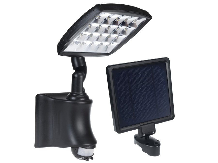 Solarna lampa ścienna z czujnikiem ruchu PIR IP44 2800mAh 280lm GreenBlue GB163