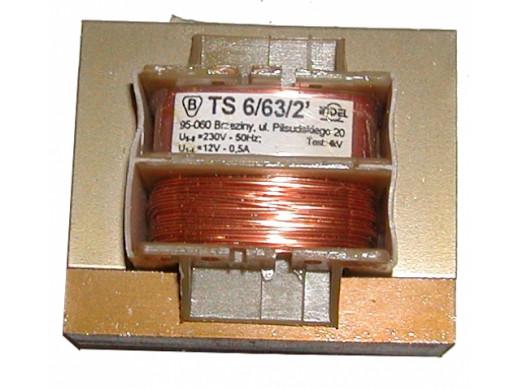 Transformator 12V 0.5A TS 6/63