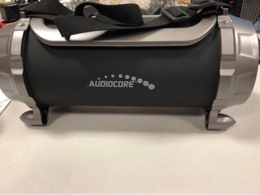 Głośnik bazooka, bluetooth, FM, karta microSD Audiocore AC890 czarny moc 100W 2000mAh POSERWISOWY Towar sprawny, kompletny, deli