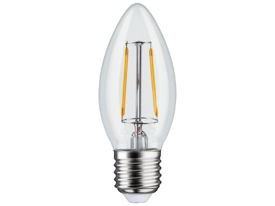 Żarówka filamentowa LED E27, 4W  230V  Maclean Energy MCE264 WW ciepła biała 3000K 400lm retro edison ozdobna świeczka