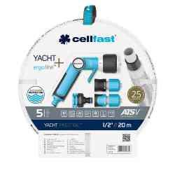 """Zestaw ogrodowy 20m 1/2"""" z końcówkami Cellfast Yacht Prestige"""