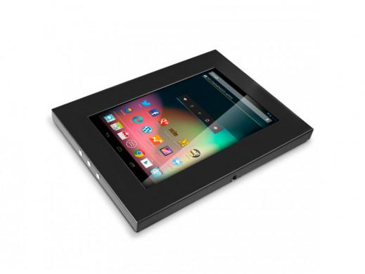 Uchwyt reklamowy do tabletu Maclean MC-610 metalowa obudowa z zamkiem Tab 1 2 3 10.1 mocowanie naścienne POSERWISOWE Brak klucz
