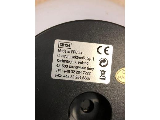 Solarna lampa wolnostojaca ogrodowa - kula 20x20x53cm, kolorowy LED GB124 POSERWISOWA Produkt sprawny, zabrudzenia, brak element