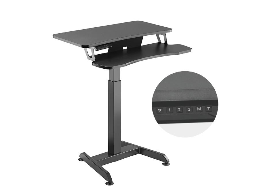 Biurko elektryczne Maclean, regulacja wys., stolik, stacja robocza, do pracy stojąco siedzącej, max wys 122cm, max 37 kg, MC-835