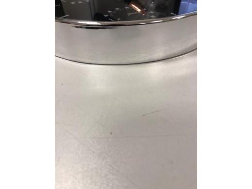 Zegar ścienny srebrny 12'' 30cm z termometrem i higrometrem  CE60 S POSERWISOWY Produkt sprawny, delikatne zarysowania