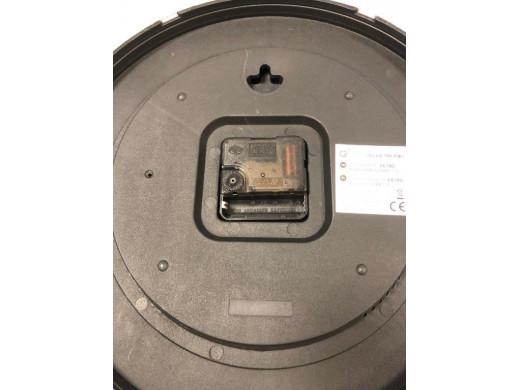 Zegar ścienny złoty 12'' 30cm z termometrem i higrometrem  CE70 G POSERWISOWY Błędny odcień - odcień różowego