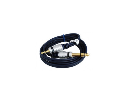 Przewód jack 6,3mm wtyk-wtyk jack 3,5mm 1,5m stereo MK68 Vitalco