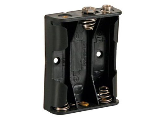 Koszyk na baterie 3xR6 AA płaskie z gniazdem bateri R-9