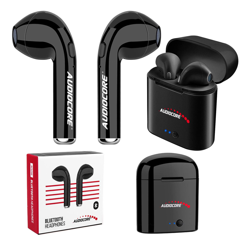 Słuchawki bluetooth bezprzewodowe bliźniacze douszne + stacja Audiocore AC520 B czarne TWS 5.0