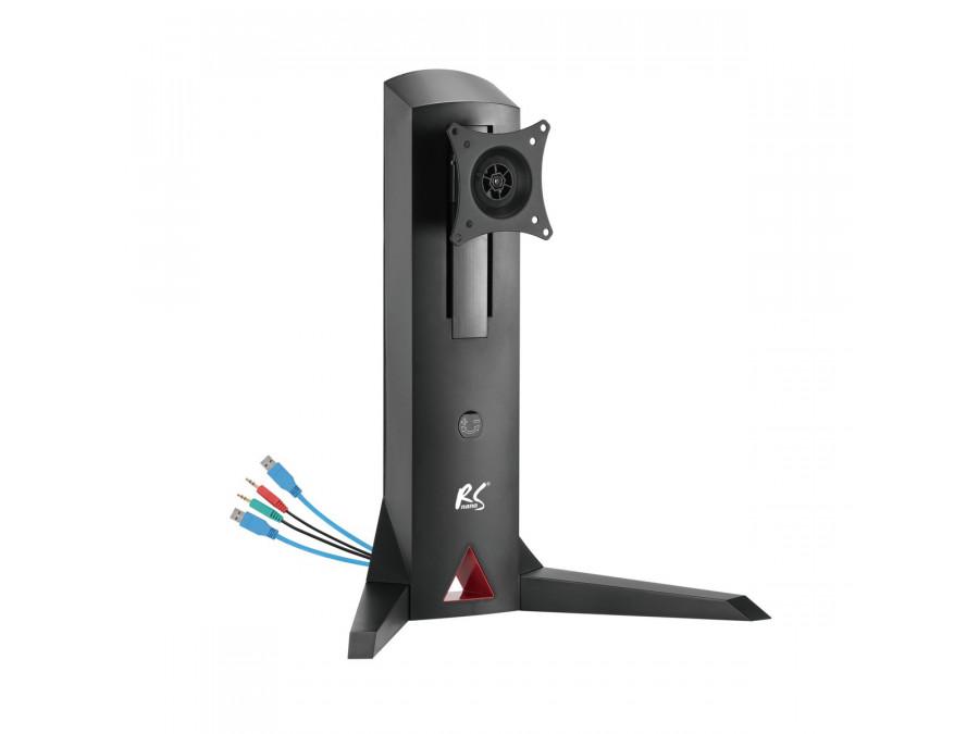 """Stojak uchwyt do monitora wolnostojący z przeciwwagą, gamingowy  NanoRS RS110  17-32""""  8kg VESA 75x75 oraz 100x100, 2xUSB 3.0, g"""
