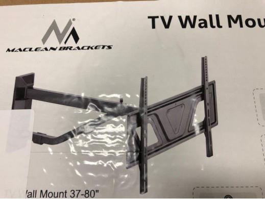 """Uchwyt do TV 37-80"""" Maclean MC-810 czarny max vesa 600x400 50kg bardzo długie ramię POSERWIS"""