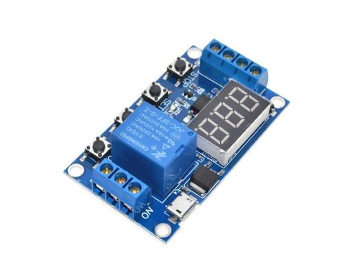 Moduł timera z przekaźnikiem 1s-999min pod Arduino