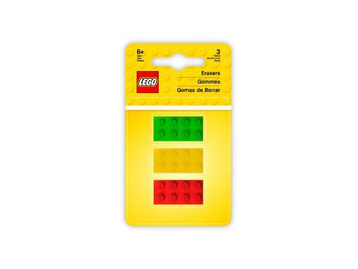 Zestaw 3 gumek LEGO Klocki