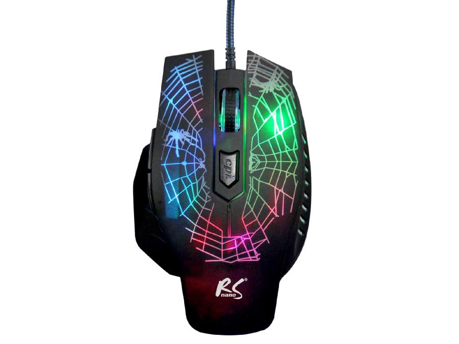 Mysz Gamingowa NanoRS RS950 Spider max 2400dpi 6 przycisków, USB 2.0, kabel 1,4m