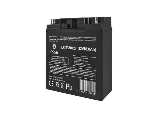 Akumulator żelowy LX12180 12V 18Ah