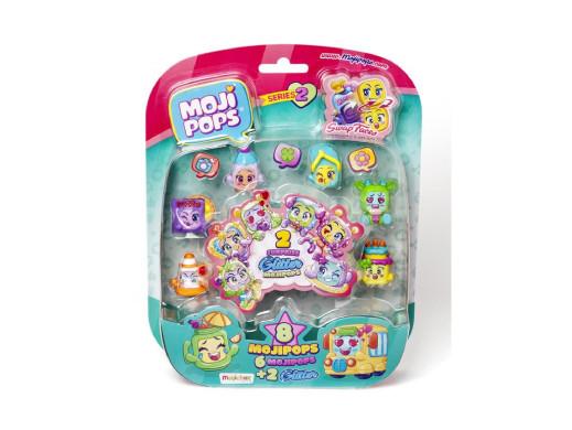 Zestaw 8 figurek MojiPops Glitter seria2
