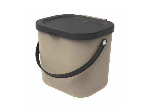 Kosz do segregacji Rotho Albula 6L cappuccino