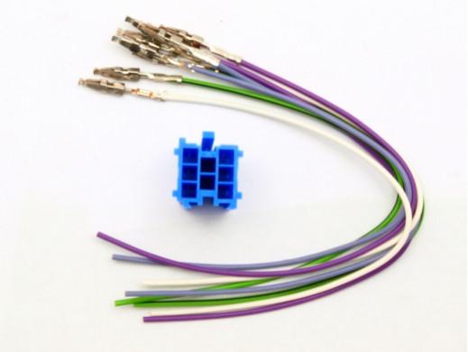 Złącze samochodowe ISO MINI NIEBIESKI+8PIN z przewodami