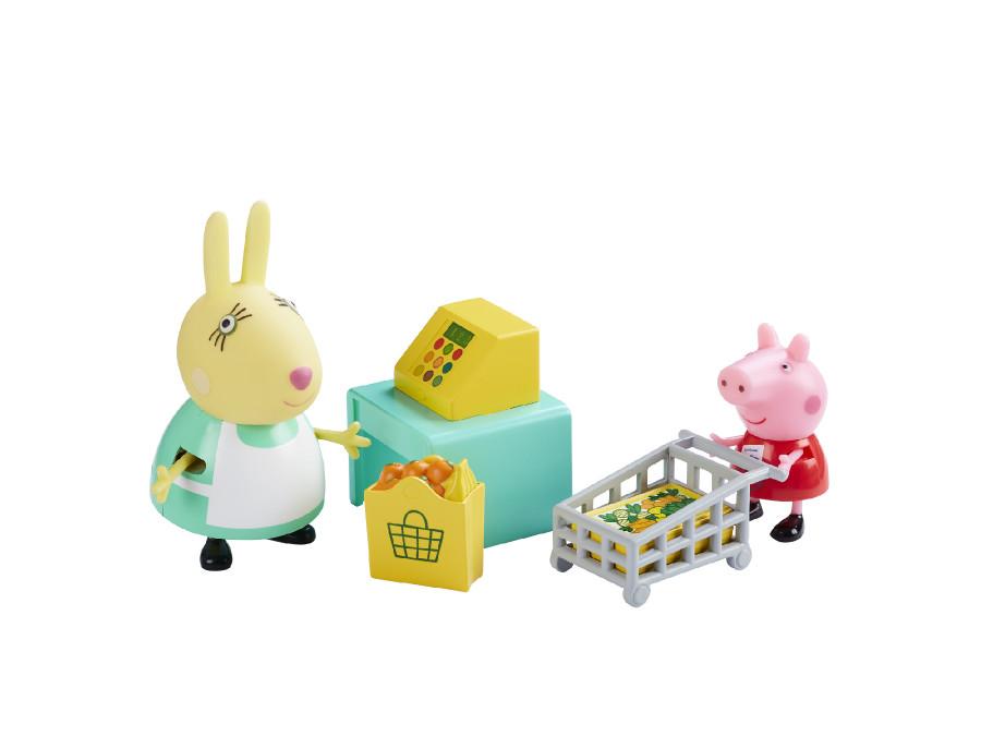 Świnka Peppa - zestaw zakupy z figurkami