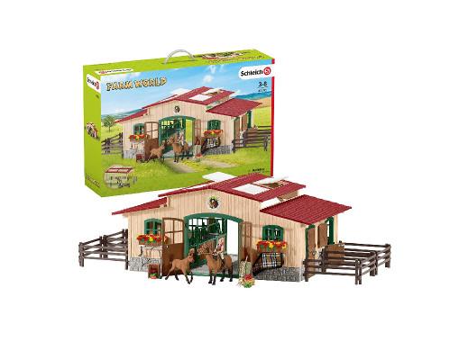Stajnia z końmi i akcesoriami Schleich Farm World