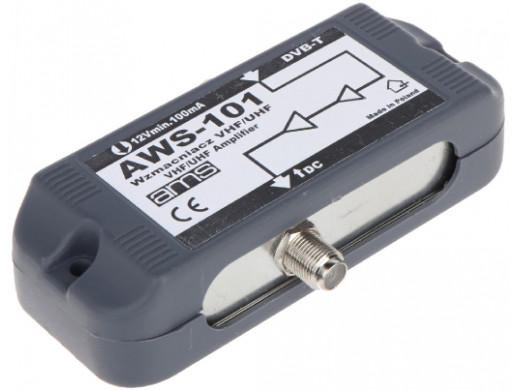Wzmacniacz antenowy AWS-101 1 wejście 1 wyjścia 14/17dB