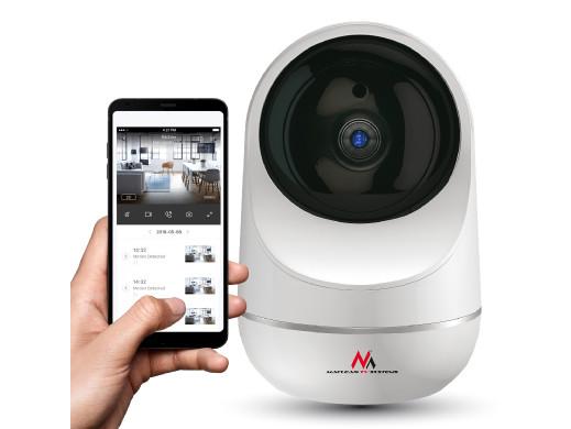 "Kamera Obrotowa Maclean, Elektroniczna niania HD, WiFi LAN, PTZ 3MPx 1/2.9"", CMOS H.265, MCTV-170"