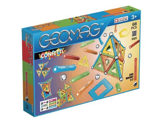 Klocki magnetyczne Geomag Confetti 68el. GEO-355