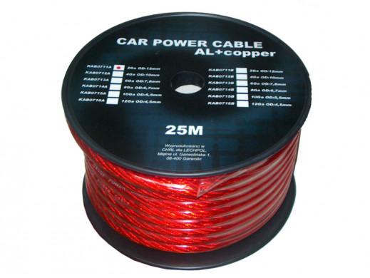 Kabel POWER 2GA 12mm czerwony