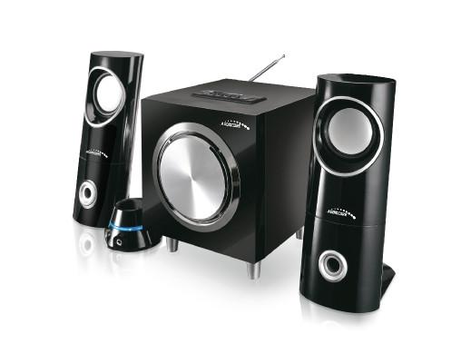 Zestaw głośników Bluetooth 2.1 Audiocore AC790 radio FM, wejście kart SD/MMC, AUX, USB,