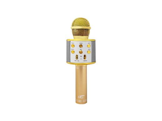 Mikrofon bluetooth z głośnikiem LTC MIC100 rożowo-złoty