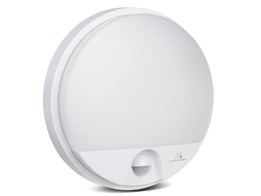 Lampa LED z czujnikiem ruchu na podczerwień MCE291 W 1100lm 15W  IP54 Maclean Energy kolor biały