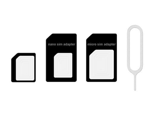 Adapter do kart micro i nano SIM czarny +klucz