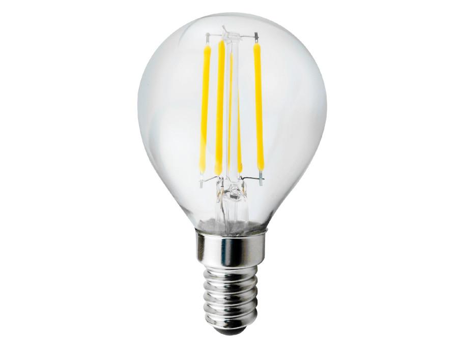 Żarówka filamentowa LED E14, 4W  230V  Maclean Energy MCE281 WW ciepła biała 3000K 400lm retro edison ozdobna G45