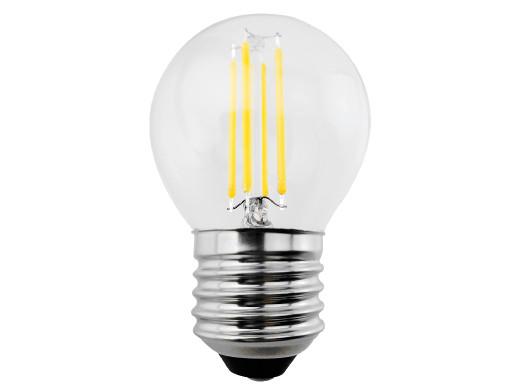 Żarówka filamentowa LED E27, 4W  230V  Maclean Energy MCE283 WW ciepła biała 3000K 400lm retro edison ozdobna G45