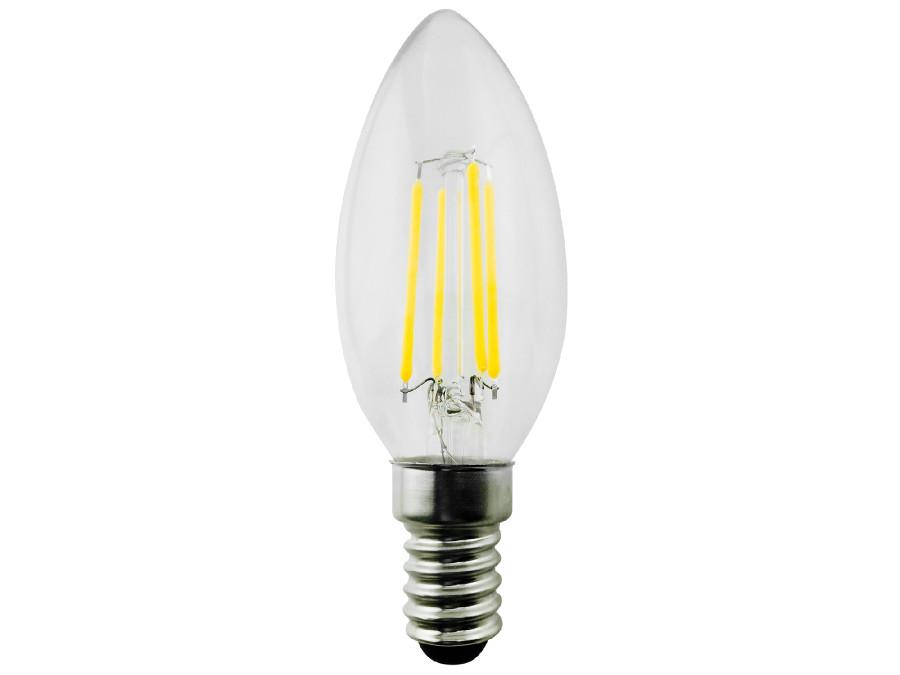 Żarówka filamentowa LED E14, 4W  230V  Maclean Energy MCE285 WW ciepła biała 3000K 400lm retro edison ozdobna świeczka C37